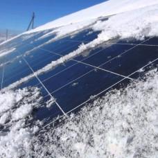 Солнечная электрическая станция зимой: принцип работы