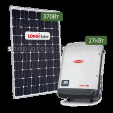 Комплект 30 кВт Fronius 27 / Longi solar 370