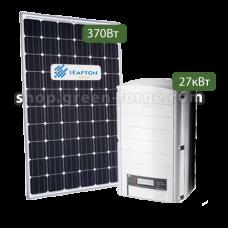 Комплект 30 кВт  Solaredge 27 / Leapton 370