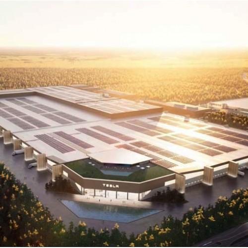 Новый завод Tesla Gigafactory возле Берлина