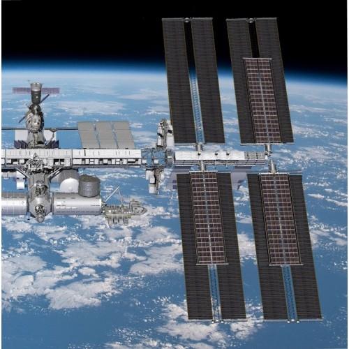 Шесть гибких солнечных панелей для международной космической станции