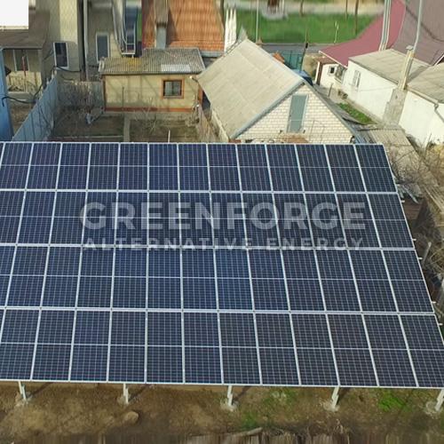 Сетевая солнечная станция 38 кВт г. Николаев