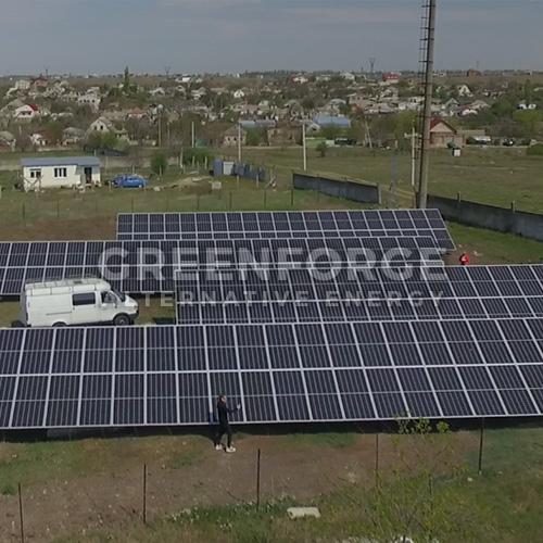 Cетевая солнечная станции 76 кВт