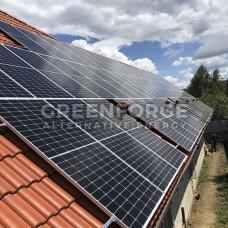 Сетевая солнечная станция мощностью 38 кВт.
