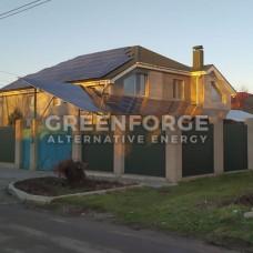 Комбинированная солнечная станция мощностью 32 кВт.